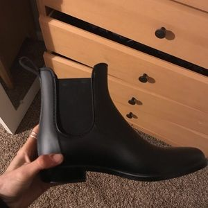 Black made well rain boots
